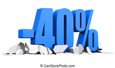 40 percent sale and discount advertisement concept