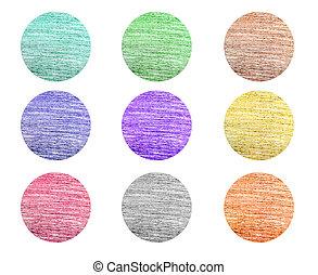 Color pencil designs set - Colorful various color pencil...
