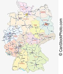 motorway map germany