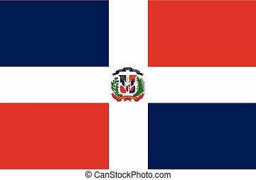 Dominican Republic Flag. Vector Format