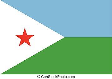 Djibouti Flag. Vector Format