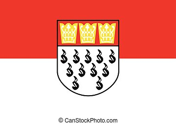 Flag of Cologne, Germany. Vector Format
