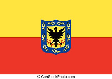 Flag of Bogota, Colombia. Vector Format