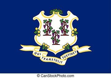 Connecticut State Flag, USA. Vector Format