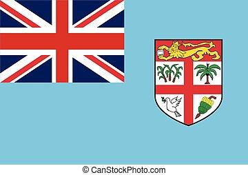 Fiji Flag. Vector Format