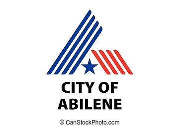 Flag of Abilene, Texas, USA. Vector Format