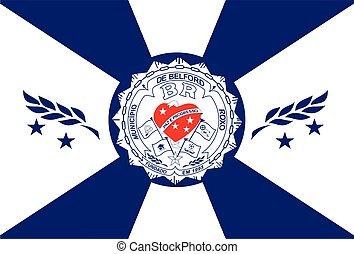 Flag of Belford Roxo, Brazil. Vector Format