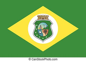 Flag of Ceara State, Brazil. Vector Format