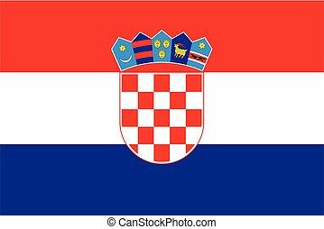 Croatia Flag. Vector Format