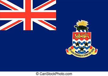 Flag of Cayman Islands. Vector Format