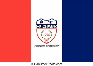 Flag of Cleveland, Ohio, USA. Vector Format