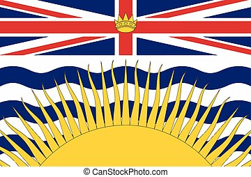 Flag of British Columbia Province, Canada. Vector Format