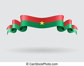 Burkina Faso wavy flag illustration.