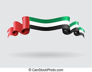 United Arab Emirates wavy flag illustration.