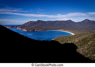 Wineglass Bay Lookout: Beautiful Beach on East Coast of...
