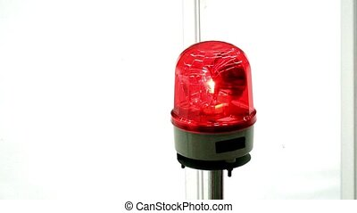 Rotating alert flash light red - Rotating alert red flash...