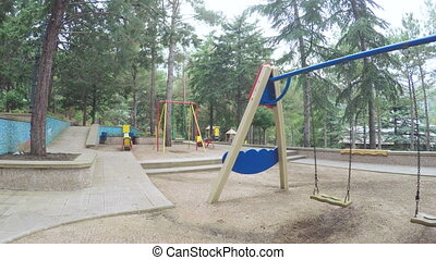 Swings in playground - Circling stedikamom playground in...