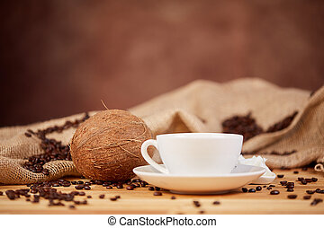 Coffee coconut butter oil bulletproof diet with vitamin e...