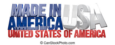 made in USA United States of America 3D Render