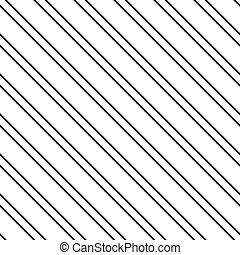 Vector diagonal lines seamless pattern - Black vector...