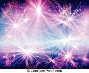 Abstract Christmas Background design with lights