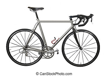 Race Bicycle - Isolated lightweight race bicycle with...