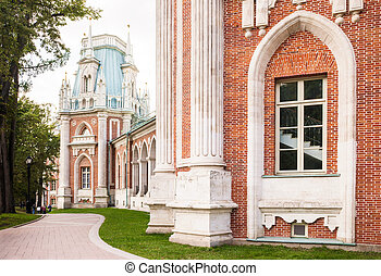 Tsaritsyno palace in Moscow - The grand palace in...