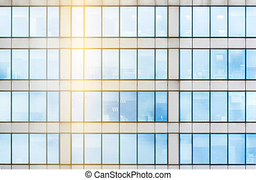 Glass facade texture - Fragment of the glass facade in the...