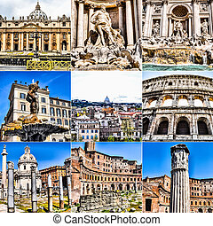 HDR Rome collage