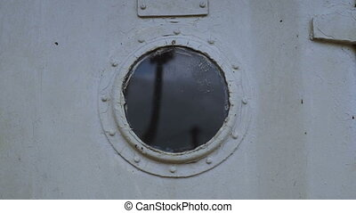 Portholes of the old ship hd