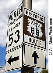 Historic Route 66 - Beginning of Historic Route 66