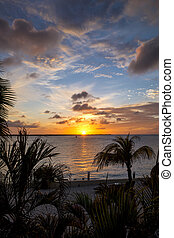 Bonaire sunset - The sun setting on the beautiful island of...
