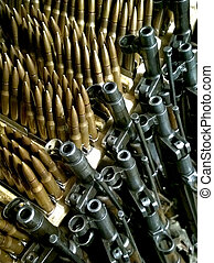 Old rifles and ammunition to them
