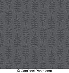 Brown seamless pattern with leaves - Seamless pattern with...