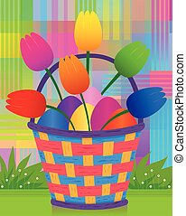 Easter Basket - Colorful and radiant design of Easter basket...