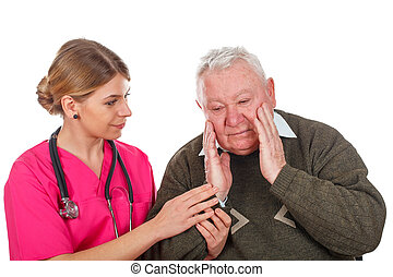 Don't worry mr., I will help you - Picture of a caring...