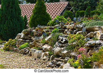 Alpine rock garden - The residence of Roumanian queen....