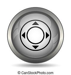 Joystick icon, black website button on white background.