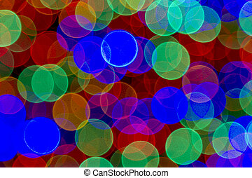 Abstract Colored Lights Bokeh Background - Abstract circular...