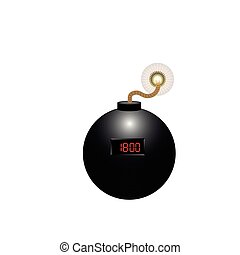 Isolated weapon - Isolated bomb on a white background,...
