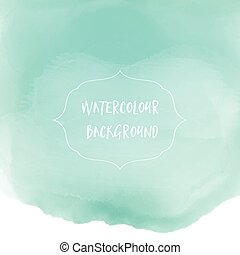watercolor wash background - Pastel green watercolor wash...