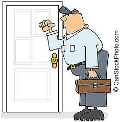 Service Man Knocking