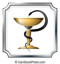symbol of medicine Snake and a bowl - symbol of medicine -...