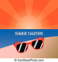 Summer vacation - Colored summer vacation graphic design,...