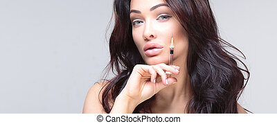 Portrait of attractive woman. - Attractive young woman gets...