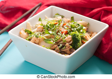 chicken stir fry with noodles - decadent thai chicken stir...