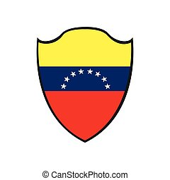 Isolated Venezuelan badge on a white background, Vector...