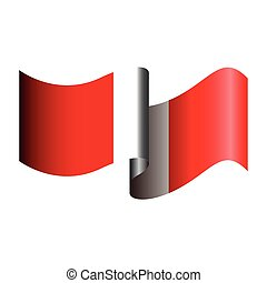 Isolated Peruvian flag on a white background, Vector...