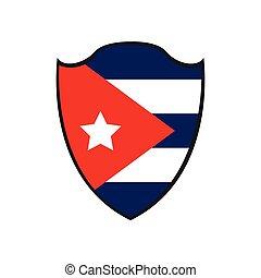 Isolated flag of Cuba