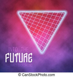 Into The Future Abstract 1980s Style Background -...